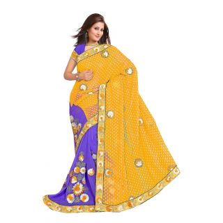 Designer In The Mainstream Multi Color Embroider Saree