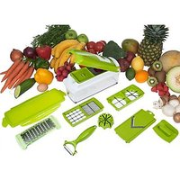 Snacthdeals Multi Chopper Vegetable Cutter Fruit Slicer Peeler Nicer Dicer Plus