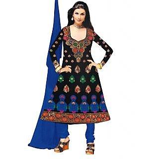 Exclusive Designer Blue Banarasi Dress Material