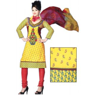 Bansal Collection Premium Cotton Printed Unstitched Suit With Dupatta - 75137214