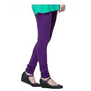 Purple Cotton Lycra Leggings