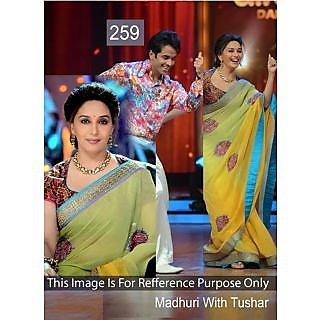 Madhuri Multicolored Georgette Bollywood Designer Saree