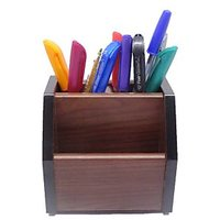 Atorakushan REVOLVING WOODEN MOBILE PEN STAND PEN HOLDER - OFFICE UTILITY & CORPORATE GIFT