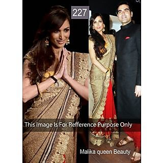 Malaika Cream With Red Cut Work Bollywood Saree