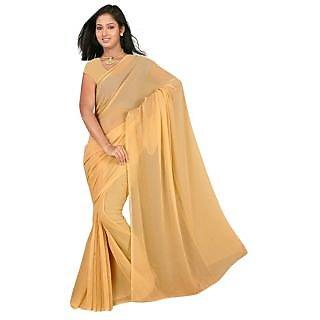 Plain Cream Designer Indian Bollywood Fancy Partywear Saree Sar
