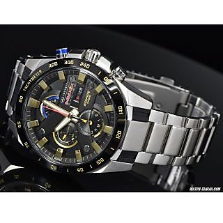 Casio Edifice EFR- 540 RB-1A Chronograph Black Dial Men's Watch