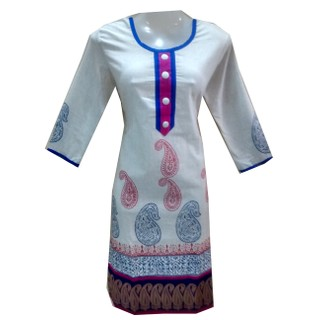 Girls Khadi Cotton  Kurtis (Size 42(L)),Khadi Kurti,Kurti,Cotton Kurti,Girls Kur