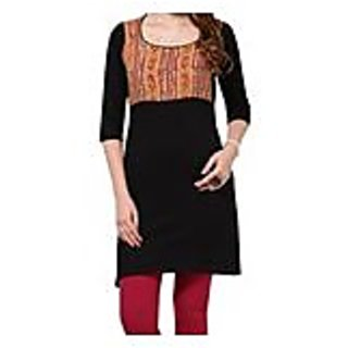 Stylish Black Knitted Cotton Kurti