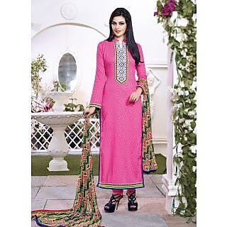 Vastrani Pink Coloured Embroidered Salwar Suit 189D747