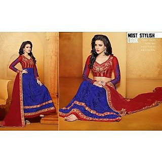 Net Blue Two In One Lehenga Suit