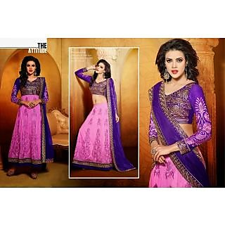 Net Pink Two In One Lehenga Suit