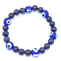 Kriti Feng Shui Lapis Lazuli With Turkish Evil Eye Bracelet
