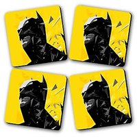 Batman Printed Wooden Kitchen Coaster Set Of 4