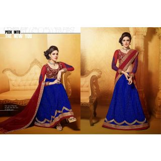 Net Blue Two In One Lehenga Suit Online
