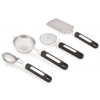 Kitchen Tools Black Color Stainless Steel Set Of 4 Rena Germany