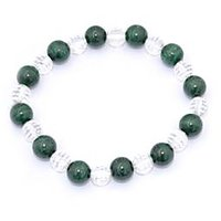 Kriti Feng Shui Diamond Cut Clear Quartz With  Malachite Bracelet