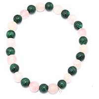 Kriti Feng Shui Malachite And Rose Quartz Bracelet