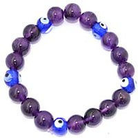 Kriti Feng Shui Amethyst With Turkish Evil Eye Bracelet