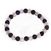 Kriti Feng Shui Amethyst With  Rose Quartz Bracelet (Diamond Cut)