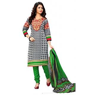 Beautiful Printed Salwar Kameez Cotton Dress Material