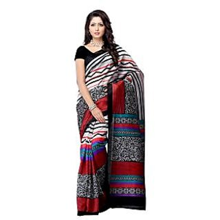 Fabdeal Multi Colored Art Silk Printed Saree - 75152804