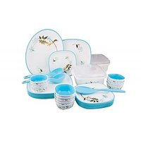 Nayasa Ny-Ds-03Sbl 32 Pcs Printed Dinner Set Sky Blue