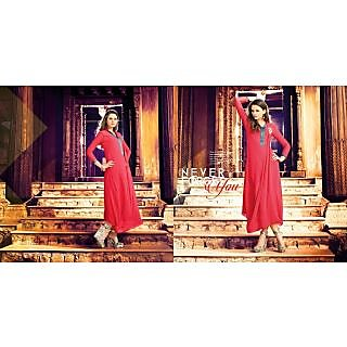 Georgette Red Readymade XL/42 Kurta Kurti Online