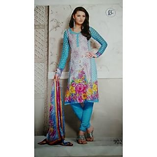 Beautiful Pure Cotton Printed Ladies Unstitched Suit