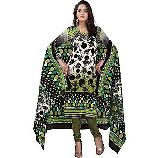 Madhav Enterprise Green Cotton Printed Dress Material Md10016