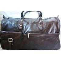 Dharavi Market Genuine Leather Duffle Bag (aa59)