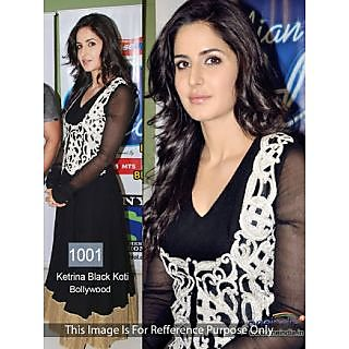 Bollywood Replica Collection Black Koti Worn By Katrina Kaif