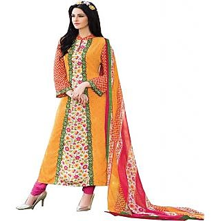 Gaargee Fashions Orange Pakistani Dress Material