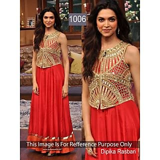 Bollywood Replica Collection Red Dress Worn By Deepika Padukone