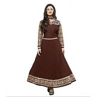 Madhav Enterprise Brown Georgette Designer Party Wear Dress Md10028