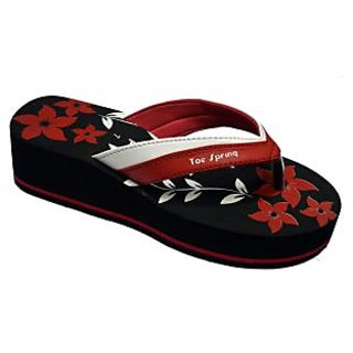 TS High Fashion Black-Red Women's Footwear