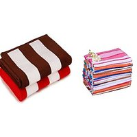 Pack Of 2 Cabana Bath Towel & 4 Hand Towel Towel