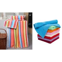 Combo Pack Of 2 Bath Towel & 6 Face Towel