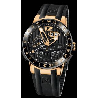 Ulysse Nardin El Toro Chronograph Men's Wrist Swiss Watch Black Rose Gold
