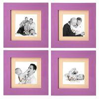 Wmm Craft Photo Frame Purple Set Of 4