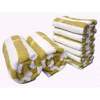 Cabana Bath&Hand Towel Set (8 Pcs)-YELLOW
