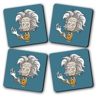 Start Experimenting Printed Wooden Kitchen Coaster Set Of 4