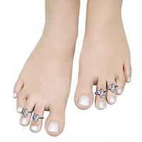 Aman Multi Stone Silver Toe Ring_4