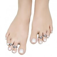 Aman Trendy Silver Toe Ring_5