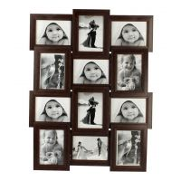 12 In 1 Brown Collage Photo Frame