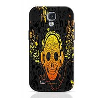 Skull Listening To Music Phone Case For Samsung Galaxy S4