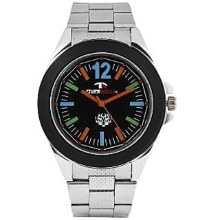 TIGERHILLS 3D GLASS STAINESS STEEL COLOURISH WATCH FOR MEN
