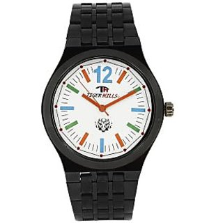 TIGERHILLS 3D GLASS BLACKISH MULTI COLOUR WATCH FOR MEN