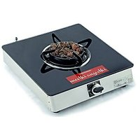 Sunshine Meethi Angeethi Single Burner Toughened Glass Top Gas Stove
