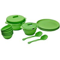 ASP Polyplast Microware Safe Round 18 Pcs Dinner Set GREEN