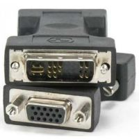 DVI A 12 5 Male To VGA Female PC Adapter Converter For Analog Monitor Black